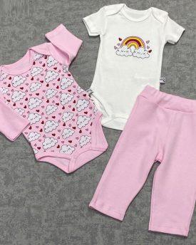 Комплект для малышей (3 предмета) (цвет розовый)