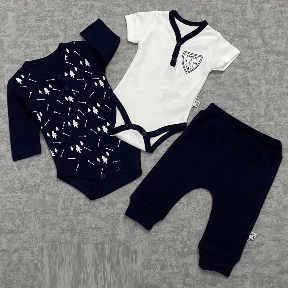 Комплект для малышей (3 предмета) (цвет белый и черный)