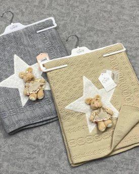 Одеяло детское  вязаное (арт 08-08)