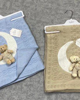 Одеяло детское  вязаное (арт 08-10)